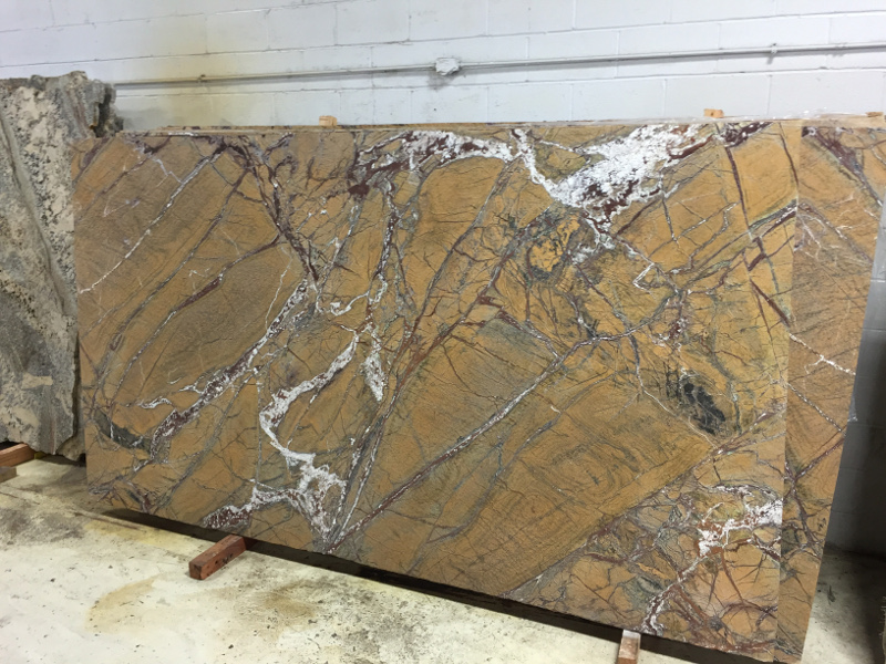 Rainforest Brown Leather Gk Granite